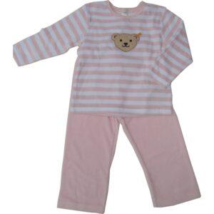 Steiff Nicki Schlafanzug Pyjama Teddykopf rosa