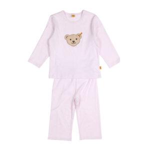 Steiff Ringel Jersey Schlafanzug rosa
