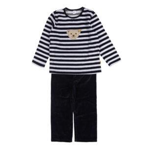 Steiff Teddykopf Nicki Schlafanzug Pyjama marine