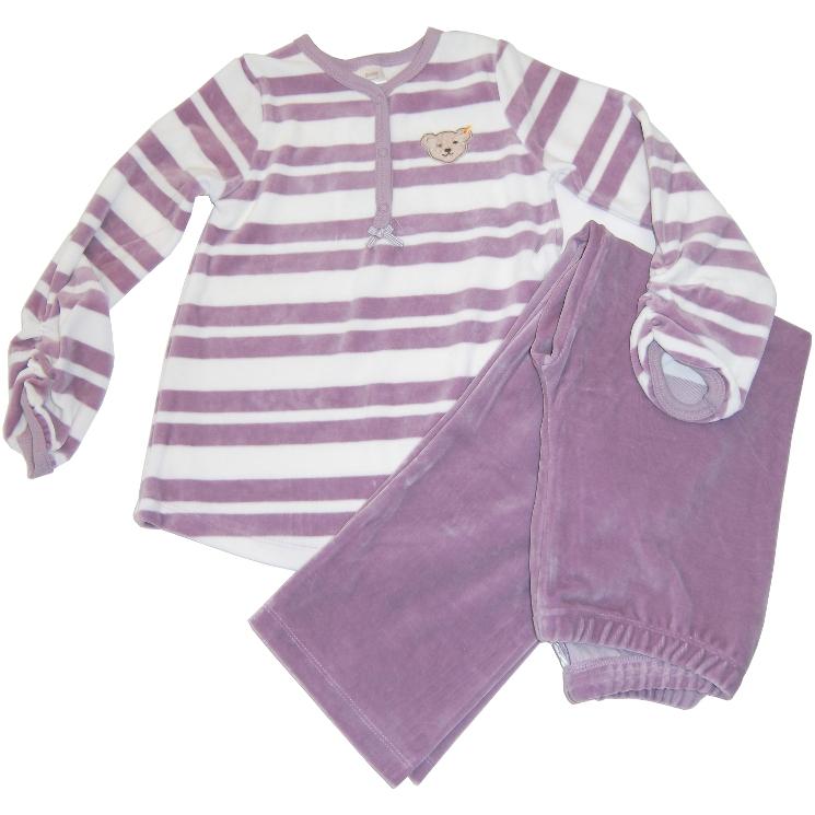 steiff nicki schlafanzug pyjama teddykopf lavender. Black Bedroom Furniture Sets. Home Design Ideas
