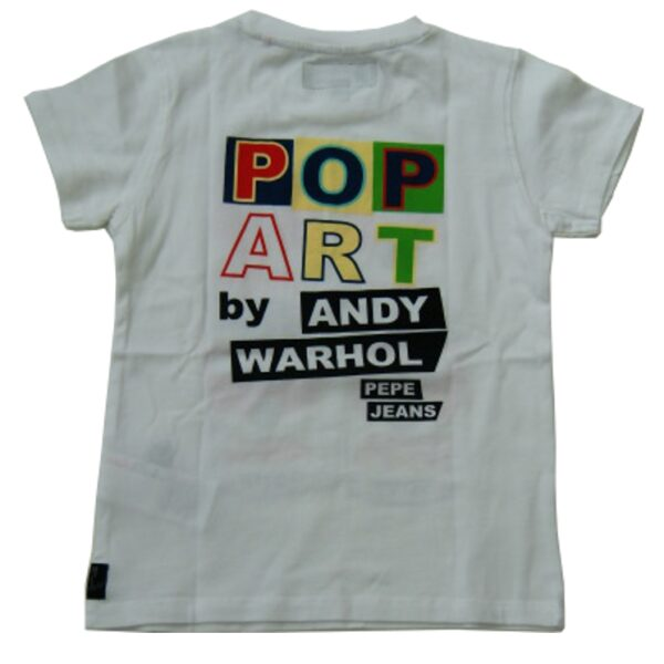 pepe jeans t shirt optic white vinilo by andy warhol. Black Bedroom Furniture Sets. Home Design Ideas