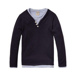 Scotch & Soda Langarmshirt marine boys