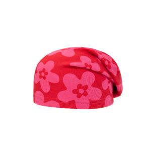 Ticket to heaven Jersey Beanie Mütze Blumen pink-rot
