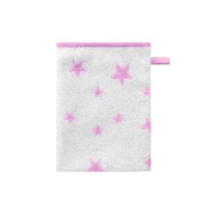 Bellybutton Waschhandschuh weiß rosa Sterne