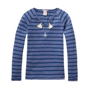 Scotch R'Belle Langarmshirt blau gestreift