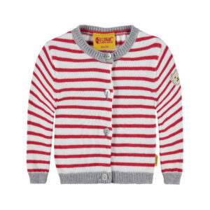 steiff-strickjacke-rot-geringelt-sporty-girl