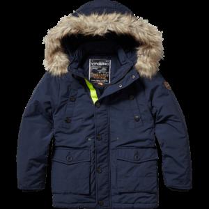 AW17KBN10001_Teero_AW17_BOYS_Jackets_Jacket outdoor_Hooded_Dark Blue_FRONT