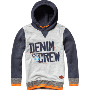 AW17KBN34003_Nicka_AW17_BOYS_Sweaters_Sweater Hoody_Hooded_Grey Mele_FRONT