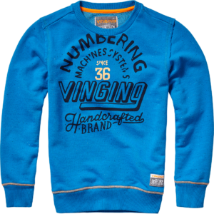 AW17KBN34012_Nobu_AW17_BOYS_Sweaters_Sweater _ Hoody_Crew neck_Skyfull Blue_FRONT
