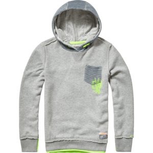 AW17KBN34013_Norden_AW17_BOYS_Sweaters_Sweater Hoody_Hooded_Grey Mele_FRONT