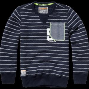 AW17KBN34016_Nichel_AW17_BOYS_Sweaters_Sweater _ Hoody_Crew neck_Dark Blue_FRONT