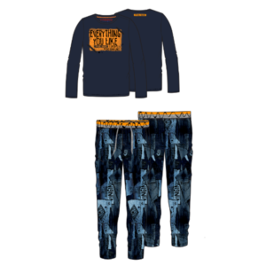 AW17KBN72404_Set Wenzel_AW17_BOYS_Underwear & Sleepwear_Pyjama_Long sleeve_Dark Blue_FRONT