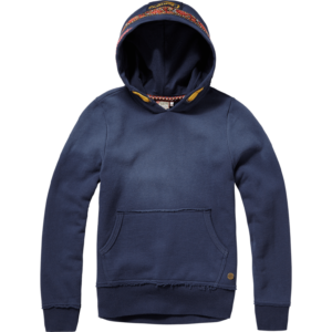 AW17KGN34001_Namina_AW17_GIRLS_Sweaters_Sweater Hoody_Hooded_Dark Blue_FRONT
